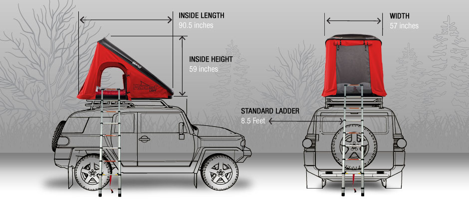 Roost Tent Dimensions & Car Tent Roof Top Cargo Carriers Specifications - Roost Tents